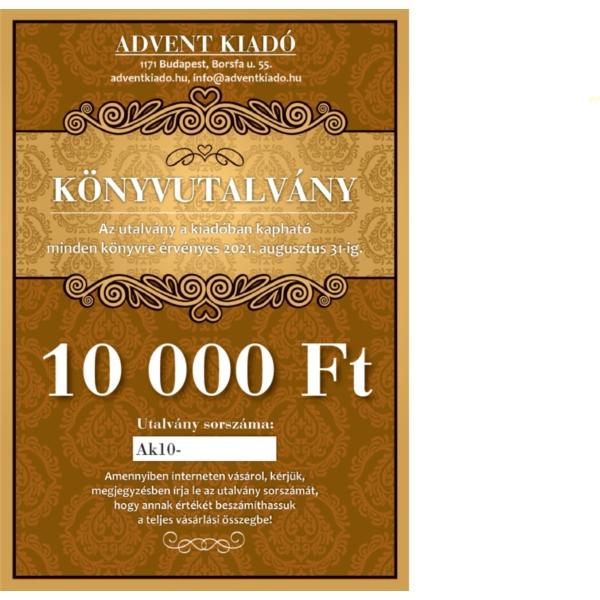 Könyvutalvány - 10 000 Ft