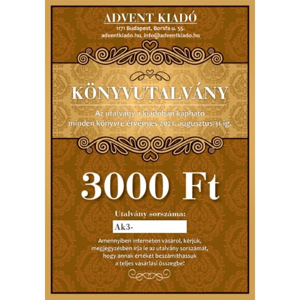 Könyvutalvány - 3000 Ft